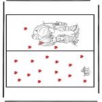Håndarbejde - Kaart Valentijn 1