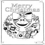Håndarbejde - Kaart vrolijk kerstfeest