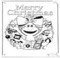 Kaart vrolijk kerstfeest