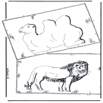 Dyre-malesider - Kamel and lion