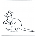 Dyre-malesider - Kangaroo with baby