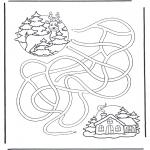 Vinter-malesider - Labyrinth deer