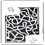 Håndarbejde - Labyrinth worm
