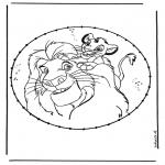 Sy-kort - Lion king stitching