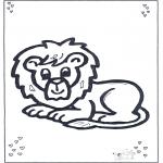 Dyre-malesider - Lion lying
