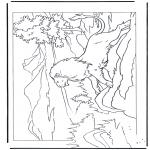 Dyre-malesider - Lion on a rock