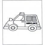 Børne-malesider - Little ambulance