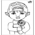 Børne-malesider - Little boy 1