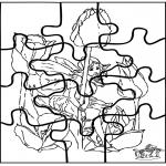 Håndarbejde - Little elf puzzle
