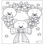 Jule-malesider - Little x-mas bears
