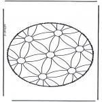 Prik-kort - Mandala 1