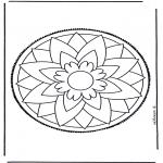 Prik-kort - Mandala 3