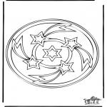 Mandala-malesider - Mandala 34