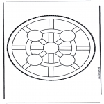 Prik-kort - Mandala 4