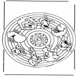 Mandala-malesider - Mandala animals 2