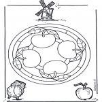Mandala-malesider - Mandala apple