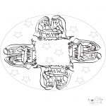 Mandala-malesider - Mandala baby Jesus