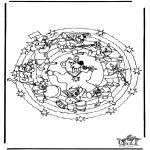 Mandala-malesider - Mandala bear