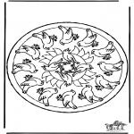 Mandala-malesider - Mandala birds
