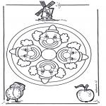 Mandala-malesider - Mandala clown