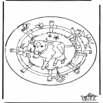 Mandala-malesider - Mandala cow