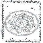 Mandala-malesider - Mandala elephant 1