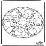 Mandala-malesider - Mandala elephant