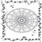 Mandala-malesider - Mandala hearts 3