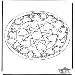 Mandala-malesider - Mandala hearts 5