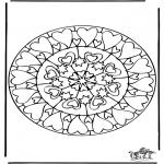 Mandala-malesider - Mandala hearts 6