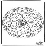 Mandala-malesider - Mandala hearts 7