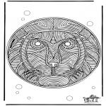 Mandala-malesider - Mandala Lion