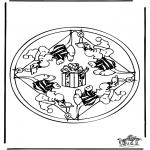Mandala-malesider - Mandala mouse 2