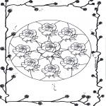 Mandala-malesider - Mandala of roses