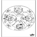 Mandala-malesider - Mandala piraat