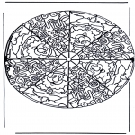 Mandala-malesider - Mandala santa claus
