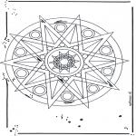 Mandala-malesider - Mandala star 1
