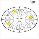 Mandala-malesider - Mandala sun