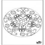 Mandala-malesider - Mandala voetbal 2