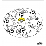Mandala-malesider - Mandala voetbal 3