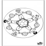 Mandala-malesider - Mandala voetbal