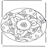 Diverse - Mandala with mushroom 2