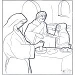 Bibel-malesider - Mary,Martha and Jesus