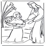 Bibel-malesider - Moses biblecoloring