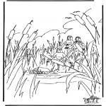 Bibel-malesider - Moses in basket