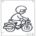 Børne-malesider - Motorcyclist