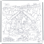 Bibel-malesider - Near the manger