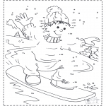 Vinter-malesider - Numberdrawing snowboard