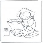 Børne-malesider - Paddington bear 1