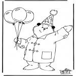 Børne-malesider - Paddington bear 3